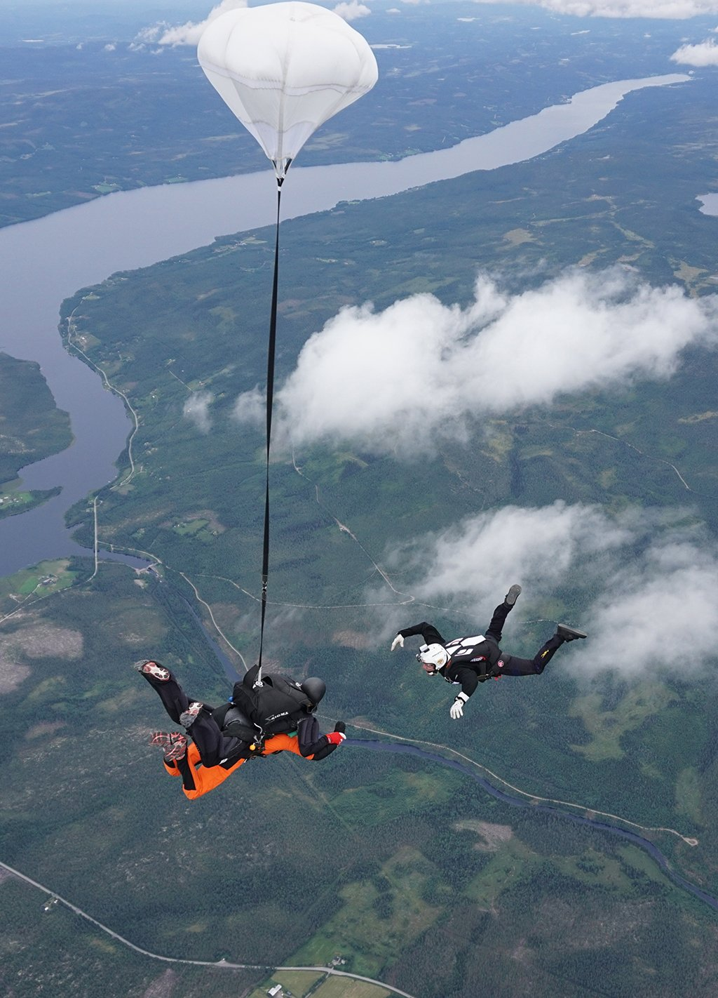 Tandem fallskjerm